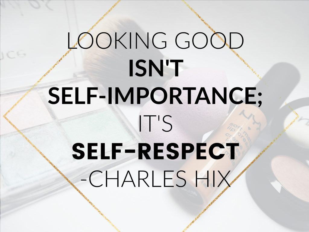 looking good is self respect quote - charles hix